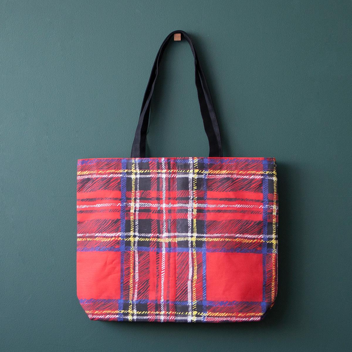 ショッピングバッグ / タータンチェック