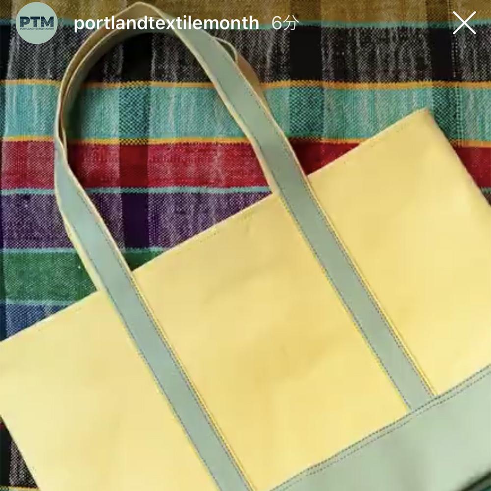 Portland Textile Monthのチャリティトートを作りました