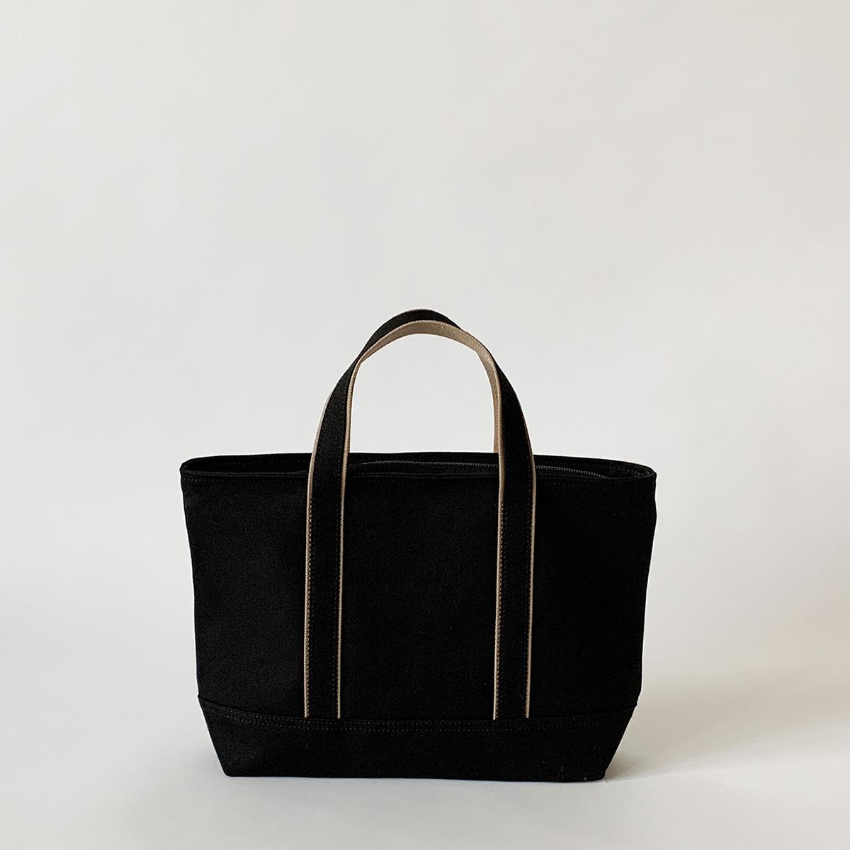 ジッパートート / ブラック:Sサイズ